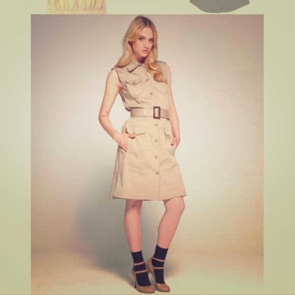 b515e228009 Dolce   Gabbana Dresses   Skirts - D   G Khaki belted Safari shirt dress